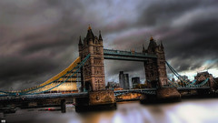How-deee (Poe Tatum) Tags: trip travel bridge england holiday london tower water long exposure dusk bridges historical digitalcameraclub