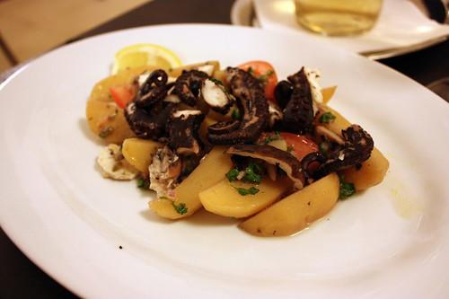 Salat z chobotnice a brambor