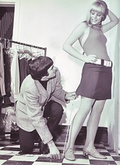 George Best working on his technique in his sh...