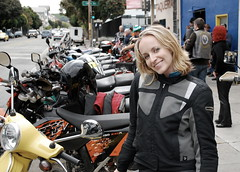 "and then he said ""Muchas motos!!!"" (Petra Cross) Tags: sanfrancisco vespa petra scooter motorcycle sfmc bikerchick motorcycleclub petka bubli zaskodnik popluharova petrapopluharova petracross"
