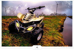 Land Explorer (Gert van Duinen) Tags: atc digitalart quad riding atv 2009 dirtbikes fourwheeling trailriding fourwheeler quads utv dutchartist recking cresk loncin theunforgettablepictures hdraward gertvanduinen quadrianer atvrider