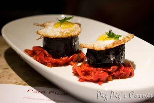 barrafina Morcilla with Piquillo Peppers