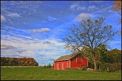 Bell School Farm (newagecrap) Tags: autumn wisconsin rural barns farms midway walworthcounty bellschoolroad