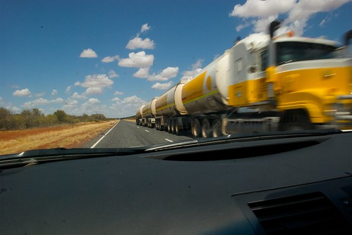 Passing a road train - 2