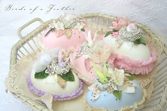 Nest Eggs in Basket ~ (birdsofafeather) Tags: holiday bird easter spring nest pastel egg eggbox crepepaper