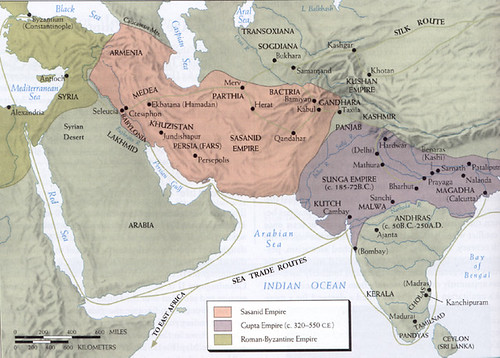 International trade routes during the Gupta Empire