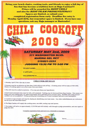 Baja Cantina Chili Cookoff 2009
