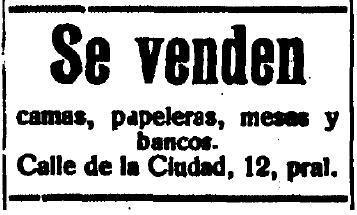 Anuncio de anticuario Balaguer (Toledo). Diario El Castellano de Toledo, 9 se septiembre de 1926.