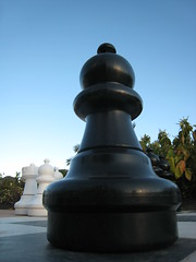 Chess Pawn (@Doug88888) Tags: blue sky white black game digital eos photo check image board creative picture chess commons lanzarote images piece dslr pawn 400d doug88888