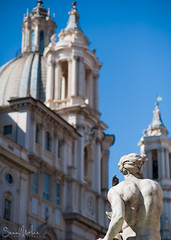 Piazza Navona (Sean Molin Photography) Tags: city rome roma building beautiful statue soldier italia european dof roman depthoffield piazzanavona epic gladiator mediteranian vacationeuropeitalyrome2009marchvacationitalli vacationeuropeitalyrome2009marchvacationitallian seanmolin wwwseanmolincom
