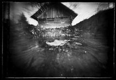 The poltergeist (batuda) Tags: barn pond plate wideangle pinhole d76 6x9 glassplate