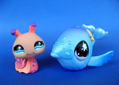Snail and Whale (frankcheez) Tags: cute toy snail plastic figure whale figurine hasbro lps littlestpetshop