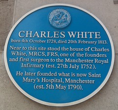 Photo of Charles White blue plaque
