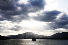 The sky over Miyajima, Hiroshima, Japan (fabriziogiordano23) Tags: trip travel sea sky sun holiday japan ferry asia mare miyajima cielo nippon sole viaggio giappone vacanza traghetto autofocus wow1 awesomeshot blueribbonwinner iful beautifulphoto kartpostal abigfave platinumphoto flickraward diamondclassphotographer theunforgettablepictures goldstaraward earthasia flickrlovers nationalgeographicexplorer uniqueawards flickrtravelaward