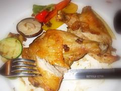 蒜味香料烤雞
