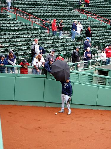 "Returning a fan""s umbrella"