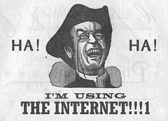 I'm using THE INTERNET!!!1