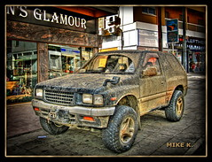 Glamour (Mike G. K.) Tags: windows car shop truck glamour mud offroad cyprus dirty sidewalk dirt parked suv hdr blueribbon nicosia tonemapped 1exp singlejpghdr aglantzia aglanjia αγλαντζιά