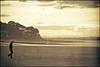 Golden sunset on a solitary beach (Manlio Castagna) Tags: sunset texture beach girl golden scotland honeymoon mood solitary manlio nairn texturized manliocastagna manliok