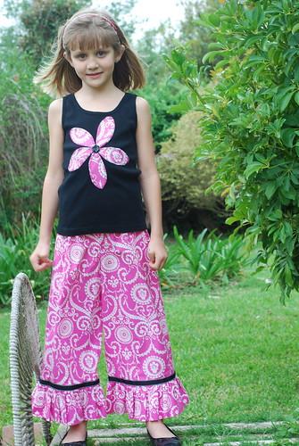 Sweet Pink & Black Pant Set by you.