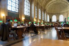 Boston Public Library: Bates Hall, Quiet Study (davefishernc) Tags: boston hall quiet library study rows tables bates bostonpubliclibrary bpl