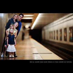 Day One Hundred Nine (Dustin Diaz) Tags: sanfrancisco lighting family portrait vertical train umbrella children fun parents nikon humor bart row 365 familyportrait gel featured project365 200mmf20g strobist dustindiazcom d700 sb900 dauhters likeducksinarow thestubby imstandingsofaraway thestubbyisheavytohold dedfolio