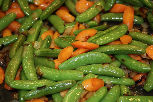 carrots peas and onions