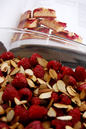 Raspberry-Almond Blondies [pre-bake]