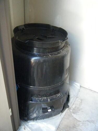 hidden compost pile