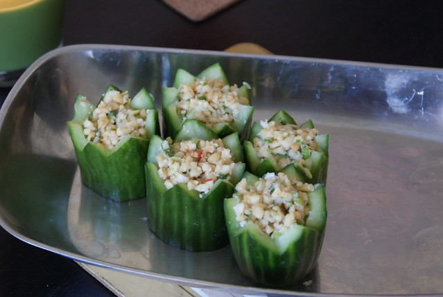 spicy cucumber cups