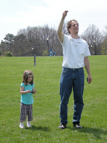 Kite flying at Hartwood Acres.
