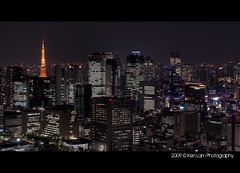 Tokyo Tower Nightscape.... (Ken.Lam) Tags: building tower st japan night tokyo view nightscape illuminations   lukes hdr offices shiodome dentsu     kenlam