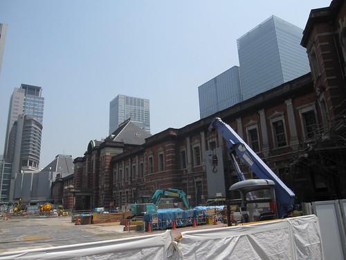 Tokyo station under renovation