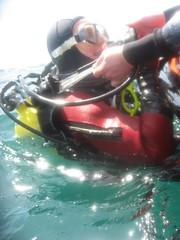 assisting diver (squeezemonkey) Tags: sea diver rib drysuit littlehampton holborndiver dekitting