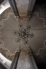 Star On The Ceiling (MykReeve) Tags: roof columns ceiling morocco chandelier casablanca column hassaniimosque