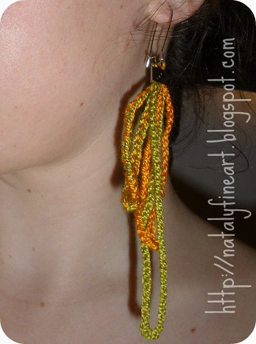 spaghetti earrings