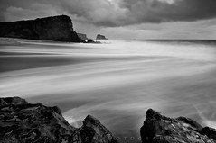 Panther Beach - Davenport, California (Jim Patterson Photography) Tags: ocean california ca longexposure sunset sea blackandwhite santacruz seascape beach clouds landscape coast rocks waves pacific shoreline shelf coastal shore lowtide intertidal davenport shelves majors sevenmilebeach santacruzcounty pantherbeach rockyshore landscapephotography oceanscape nikond300 tokina1116mm holeinthewallbeach beneathblueseas beneathblueseascom jimpattersonphotography jimpattersonphotographycom seatosummitworkshops seatosummitworkshopscom