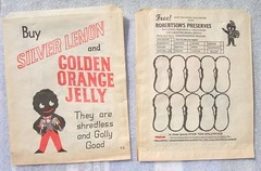 Robertson's Golden Shred promotional grocery paper-bag, 1960's (RETRO STU) Tags: ephemera grocery paisley promotional marmalade golly robertson paperbag gollywog goldenshred gollybadges