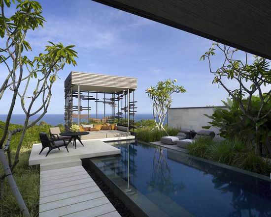Alila Villas Uluwatu 09 Gazebo Swmimming Pool