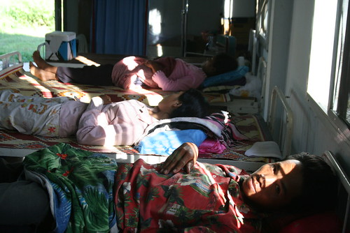Malaria patients near Thai-Cambodian border