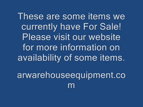 FOR SALE! The different items we have for sale from A & R Warehouse Equipment