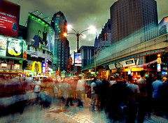 Friday Night Crowded at Bukit Bintang Street ( DocBudie) Tags: longexposure people lights nightshot nightlight kualalumpur gettyimages bukitbintang crowded fridaynight jalanbukitbintang lottencrossing