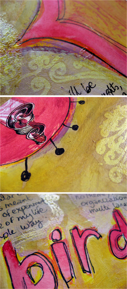 Free as a bird {art journal page}