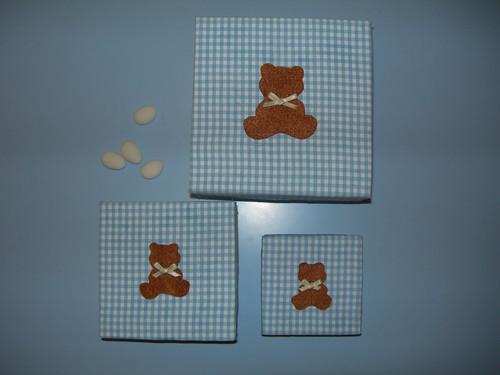 Caixas forradas com ursinho