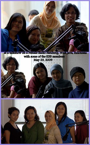 At the Female Radio Bandung for a talkshow 23 May 2009