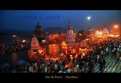 Haridwar by night (GOPAN G. NAIR [ The World through my Lens ]) Tags: india uttaranchal himalaya haridwar gangaaarti gangariver harkipauri gopsorg gopangnair