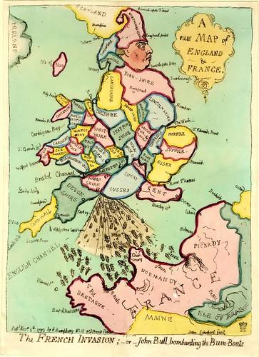 Map Of France Cartoon.Bibliodyssey Satirical Maps