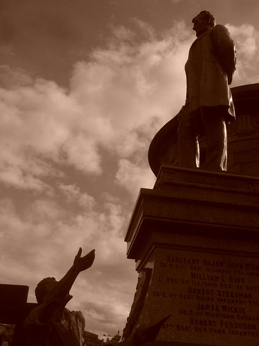 Lincoln en el cementerio de Calton, Edimburgo
