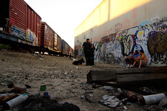 on my hustle (TRUE 2 DEATH) Tags: california railroad shirtless dog streetart art trash train graffiti cops tag graf police trains dirty railcar spraypaint boxcar railways jero railfan freight vagrant k9 veal trackside freighttrain rollingstock northhollywood hassled vagrants icrs benching dirtydirty freighttraingraffiti homebum unionpacificpolice homebums impropertracksideetiquette