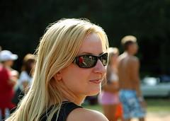 (Majka Kmecova) Tags: summer portrait woman smile face fun nikon d70 nikond70 happiness blonde slovakia majka fairhair kmecova